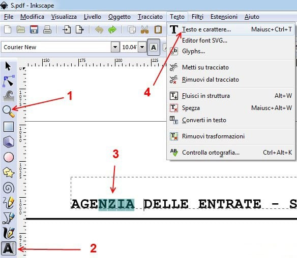 Modificare Testo Pdf