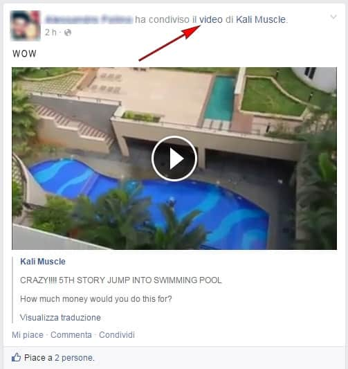 salvare video da facebook