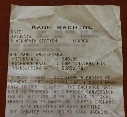 cambio euro sterlina atm bancomat aeroporto dove conviene cambiare euro in sterline